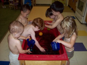jello in sensory younger preschool